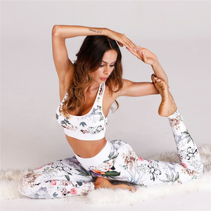 A3013 Print Design Fitness Yoga Wear Set For Women