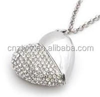 Jewelry crystal heart shaped USB flash drives usb flash drives 2gb 4gb 8gb, pen drive16gb Wedding gift USB flash memory