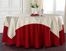 Wholesale Round Square Size Polyester Elegant Wedding Table Linens