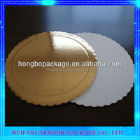 1mm 2mm Gold White Manufacturer Cardboard Cake Circle With FDA SGS
