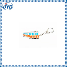 custom laser light cartoon train pvc keychain