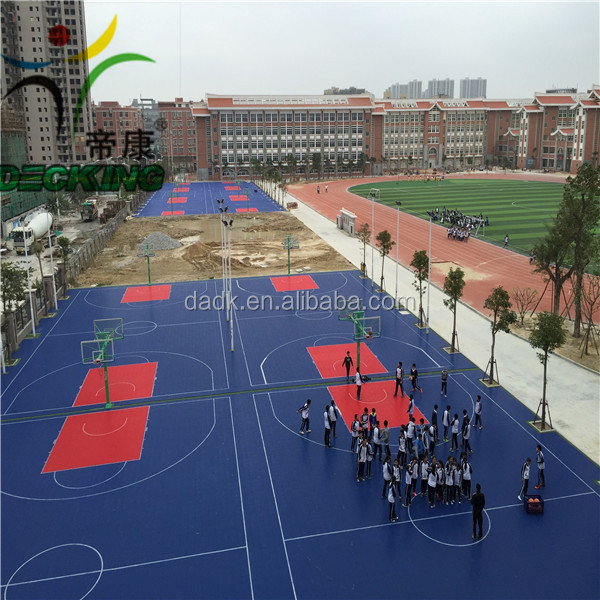 Hot Sale PP material Basketball Interlocking sports Flooring
