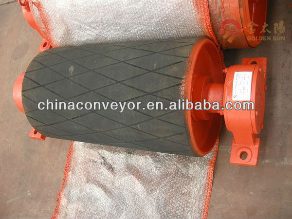 Good-sales Plain rubber coating conveyor pulley diameter 500mm for mining industry by CE ISO biggest manufacturer