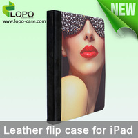 Latest new arrival sublimation leather case for ipad air 2