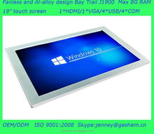 Made in China J1900 19 inch industrial panel <strong>computer</strong> with Dual display