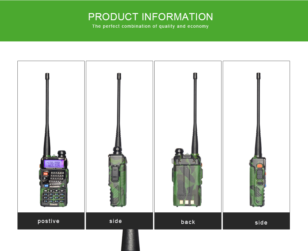 BAOFENG  two ways radio 5RE PLUS  waterproof walkie talkie camouflage uhf radio