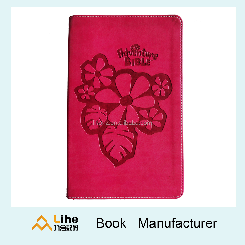 Leather Paper Book Printing Holy Hardcover Books with OEM Printing Service Nice Religious Book for Both Children and Adults 2017