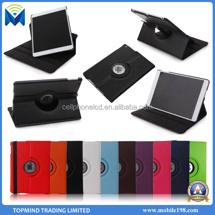 High Quality 360 degree Rotating Kickstand Tablet PC Leather Case for iPad Pro 12.9 inch