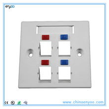 4 ports network outlet faceplate