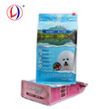 Custom Printed Pet Food Packaging Material Square Bottom Zipper Slider Bag From Shaoutou Factory