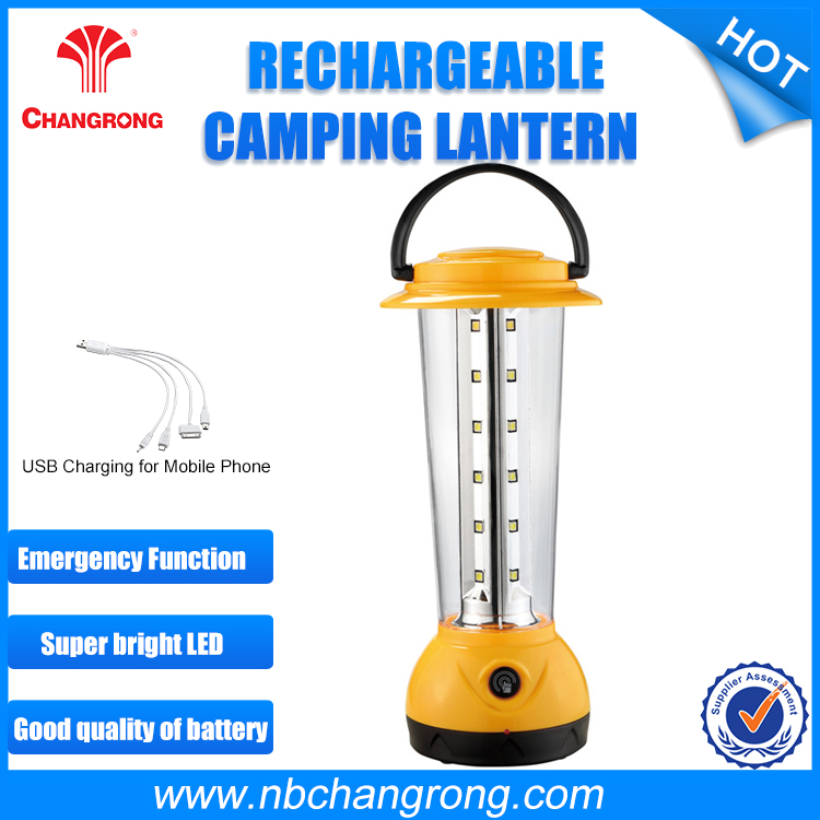LED Battery Powered Emergency Light Rechargeable Led Camping Lantern Solar Light