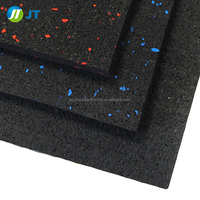 colored speckles rubber gym flooring