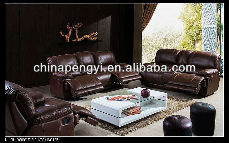 Contemporary Style living room furniture sofa sets with recliner