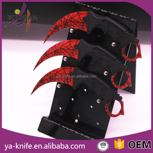 YA-H10 red spider net csgo butterfly karambit hunting knife stock goods