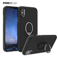 for iPhone X Case, 360 Degree Rotating Ring Grip kickstand Dual Layer Mobile Phone Case