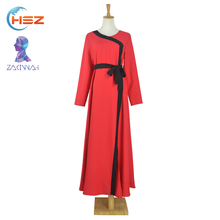 Zakiyyah E003 Good Offer Red Abaya Dubai Abaya Models Graceful Baju Kurung and Baju Melayu Stone Work