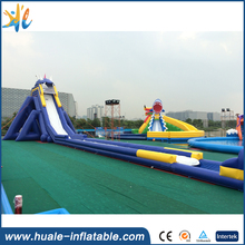 2016 dragon giant inflatable water slide park for adult