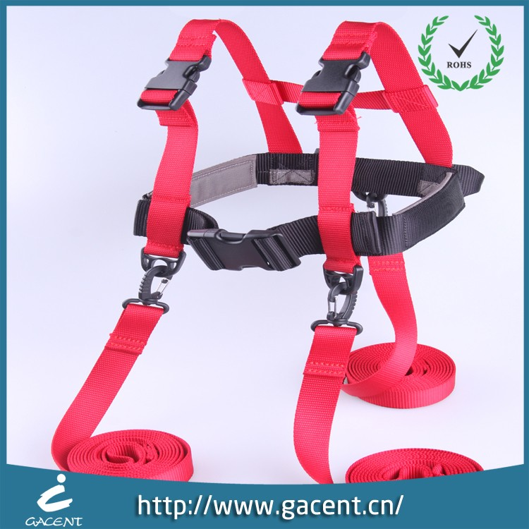 Kids ski harness trainer with long ski nylon extended leash