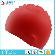 China gold supplier most popular cheap cute silicone rubber swimming cap