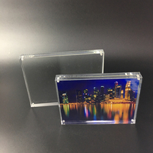 double sided clear 4x6 Magnetic acrylic photo frame for desktop thick acrylic block frame
