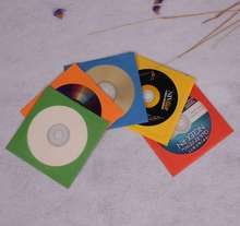 Paper CD DVD BD sleeves, Assorted colors.