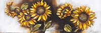 Single Panel Sunflower 3D Sculpture Handmade Oil Painting Beautiful on Canvas Home Decor Wall Art Crafts Wide Size RA0305