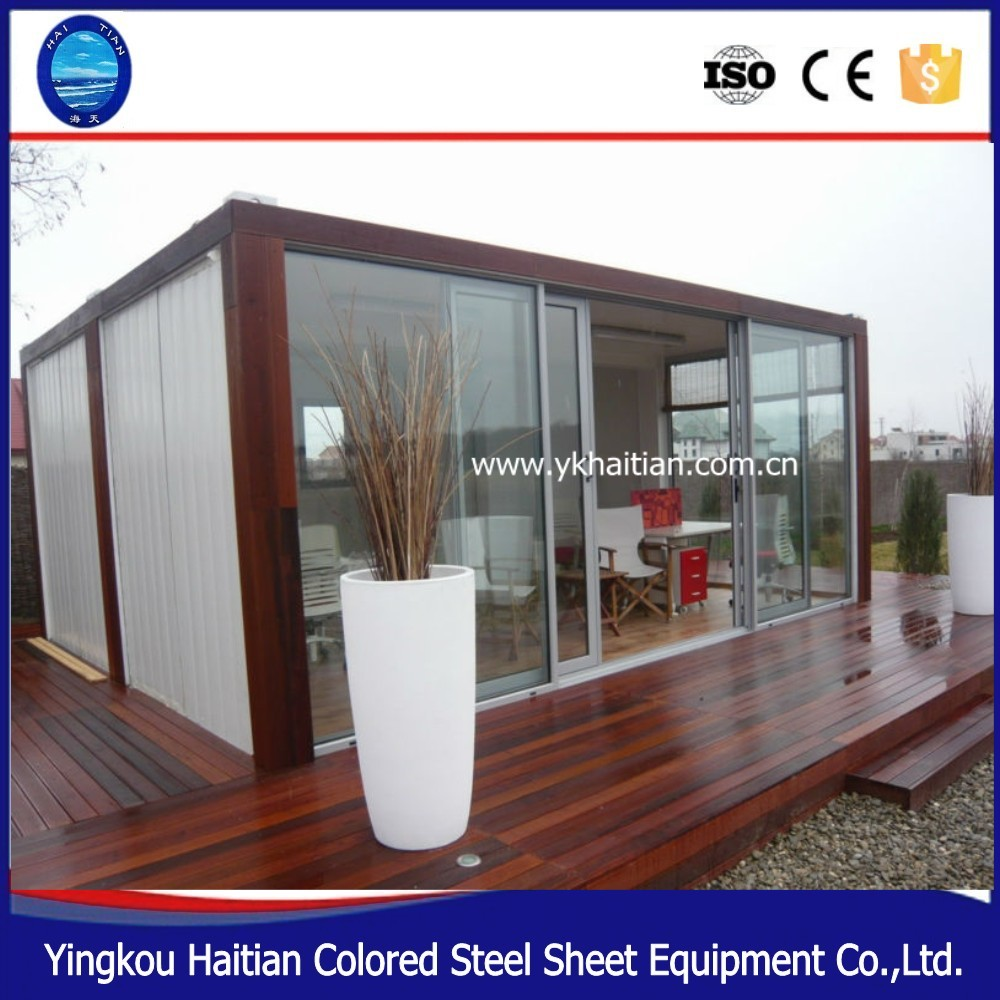Standard size prefab shipping container house beautiful container home, simple wooden house