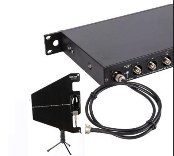 Four channels UHF 500-980MHz wireless signal distributor antenna mounting system rf antenna