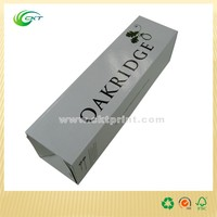 Foldable white wine paper box with printed logo