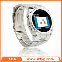 small latest bluetooth wrist MP3 MP4 player watch mobile phones FCC