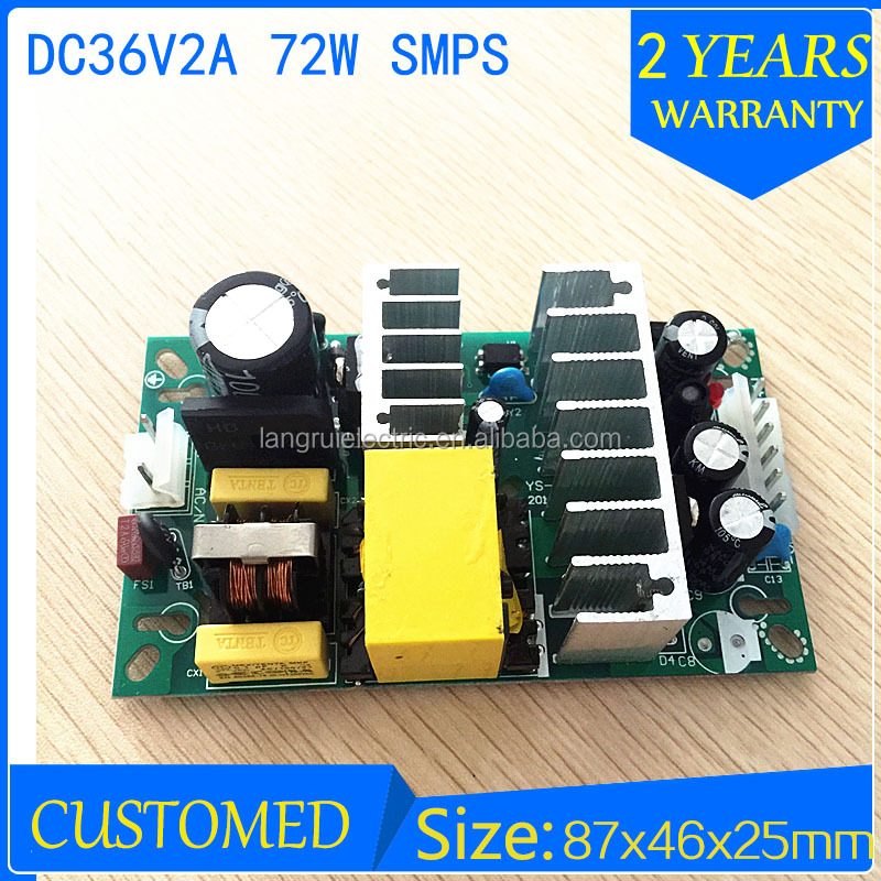 72w 36v ac-dc switching power supply 2a open frame led driver