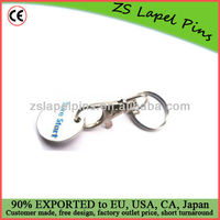 Supermarket trolley coins/ shopping trolley coins keyring