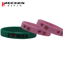 Custom Colorful Debossed And Ink Filled Multi-color Silicone Wristband