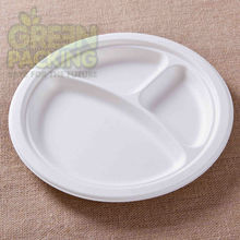 Various sizes Sugarcane fiber disposable compostable paper plates