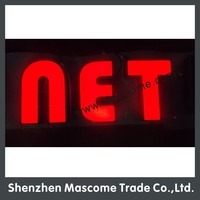 12V red led sign for store, shop, hotel, cinema, company, coffee shop front brand name sign