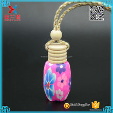 designer perfume car air fresheners bottle with flower polymer clay 8ml