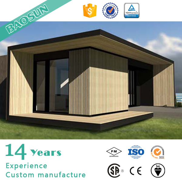 Germany good quality premade single slope roof prefab modular house one story prefabricated individual home