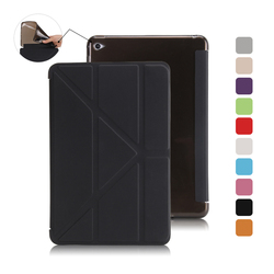 Factory Outlet Smart Magnetic A whole Piece Leather Flip Cover TPU Back Case for iPad mini 4