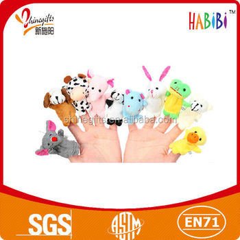 lovely cartoon animal hand puppets for kids