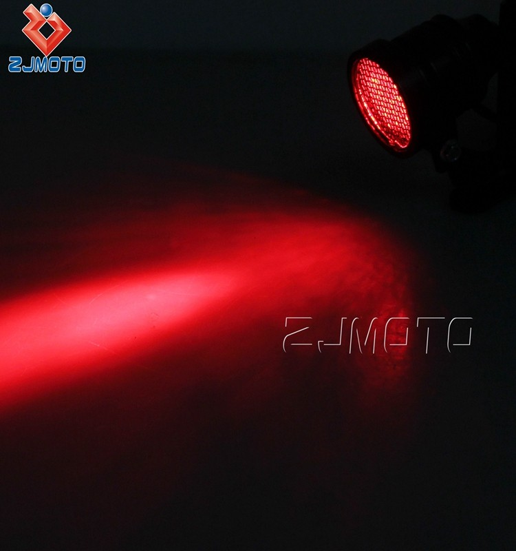 Bullet Aluminum Custom Rear Lamp Black 12V LED Taillight For Harley Chopper Bobber Cafe Racer Most Bike