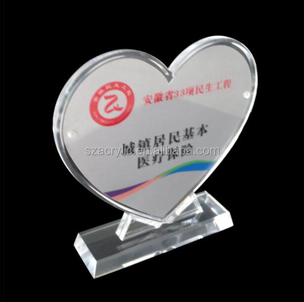 acrylic love heart display photo frame