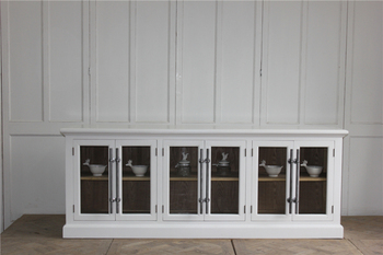 Unique designs furniture living room extra long white sideboard