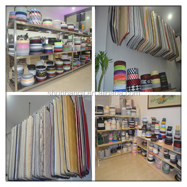 Bande conception 100% polyester pour matelas bord bande (P16 #)