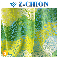High quality nylon cotton polyester Italian multi-color embroidered lace fabric