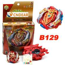 B129 beyblades with box and launcher