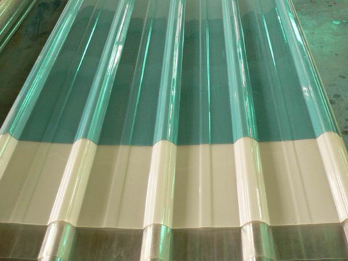 Large Color Clear Plastic Corrugated Roofing Sheet