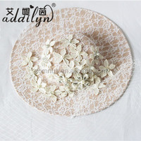 Hot Sale Ladies Elegant White Church Hats Wedding Veils with Lace Flower