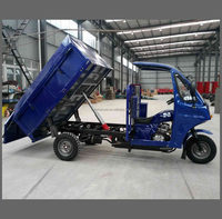 strong garbage tricycle, three wheeler rickshaw, trike 200cc 250cc with cabin