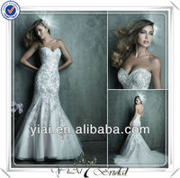 FQ0004 Sweetheart Neckline Beaded Bodice Black and White Plus Size Wedding Gown
