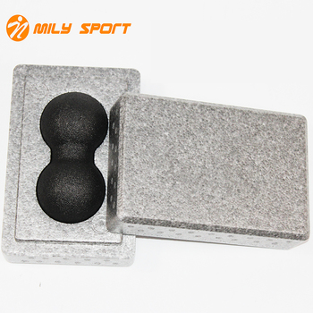 EPP yoga block holder with lacrosse ball 2 in 1 body massage kit  yoga peanut massage ball and yoga block